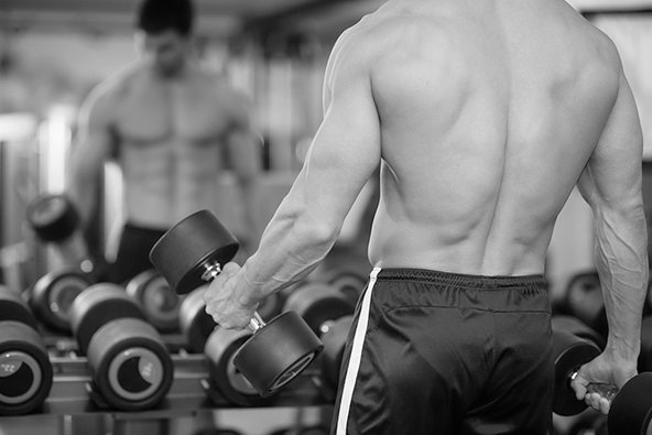 building muscle with light weights
