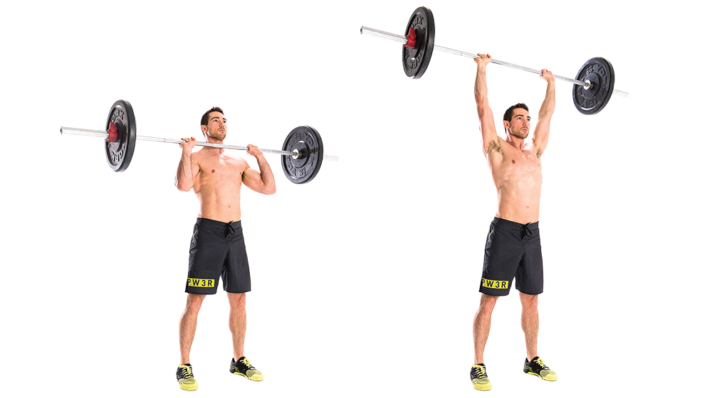 shoulder press barbell