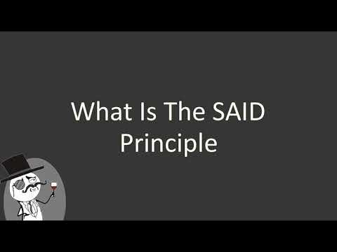 what is the said principle