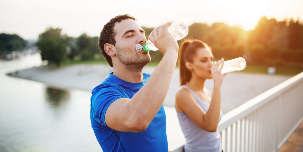 Do not forget about drinking water before, during and after exercise