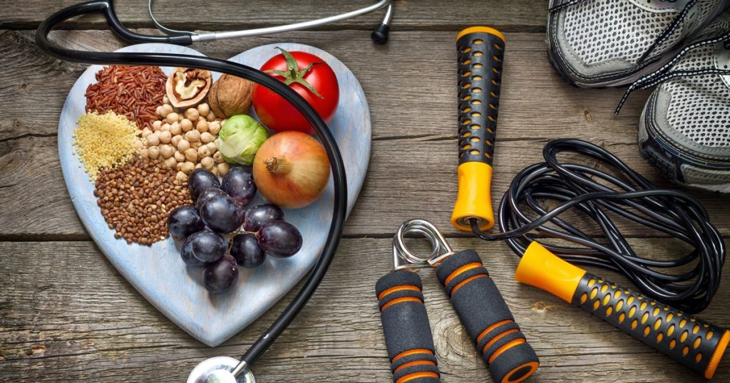 Replace your bad habits by healthy eating and physical culture